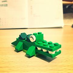 可爱的小鳄鱼