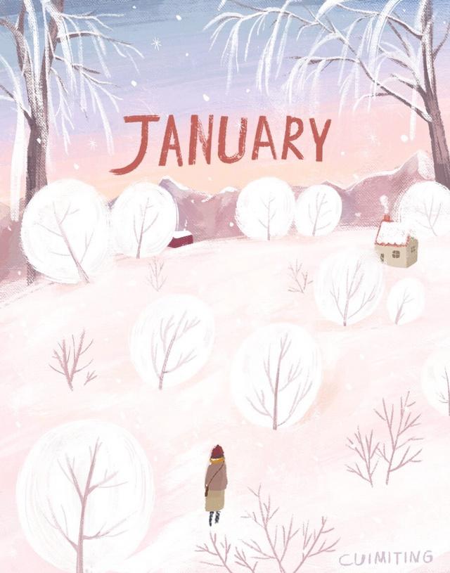 多雪的一月❄️做成年历可还行?
