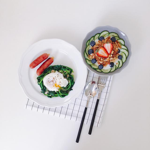 菠菜与水波蛋
