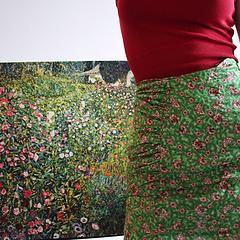 Mango碎花裙 & Klimt意大利花园