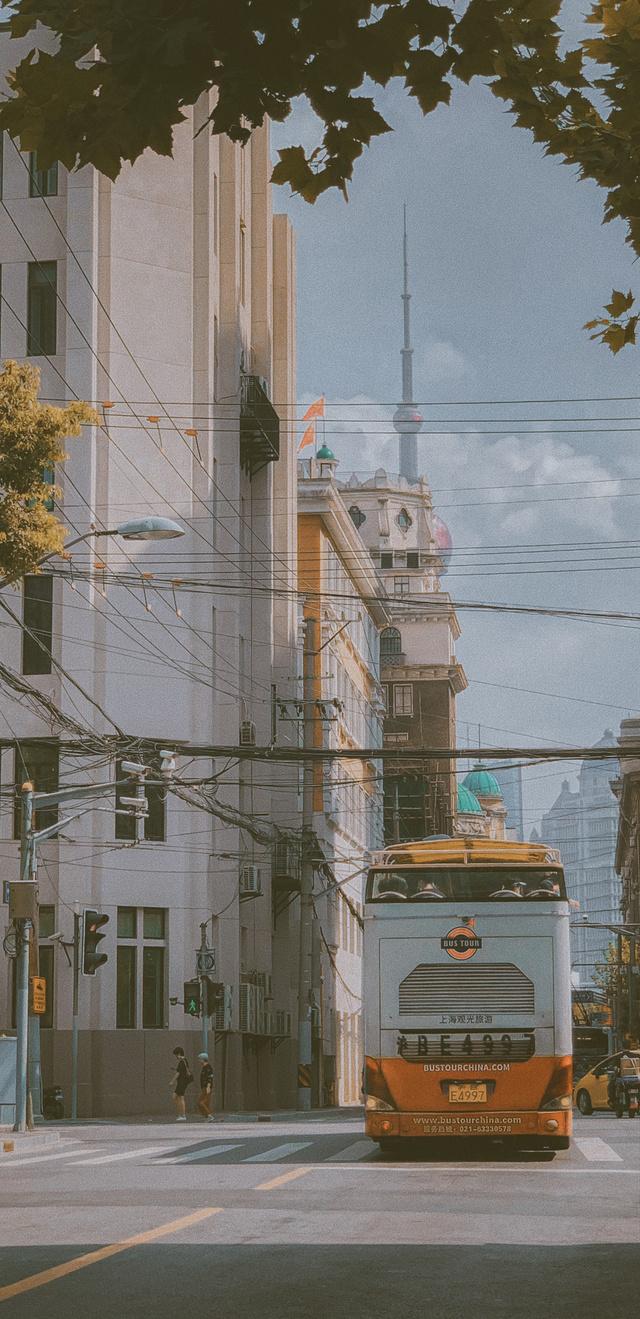 秋天、在黄浦区的街头走一走 喔…