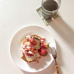 早餐/早午餐日常节选:低卡法式吐司+手冲咖啡